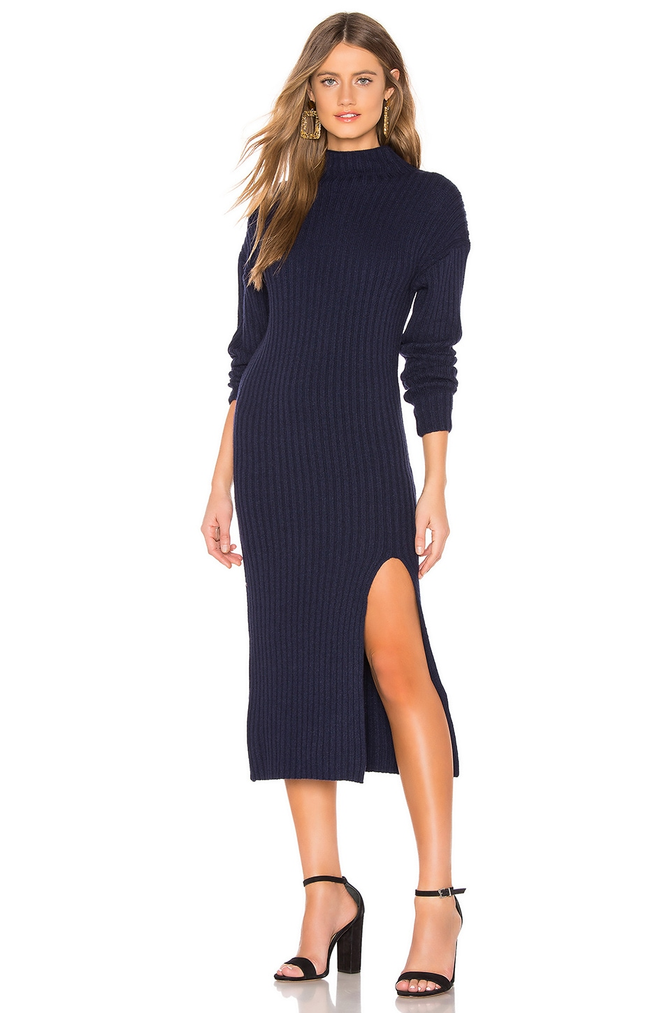 About Us Gabrielle Sweater Dress in Navy