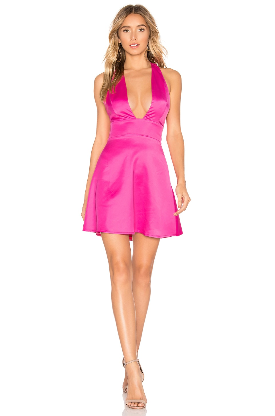 About Us Esther Mini Dress in Hot Pink