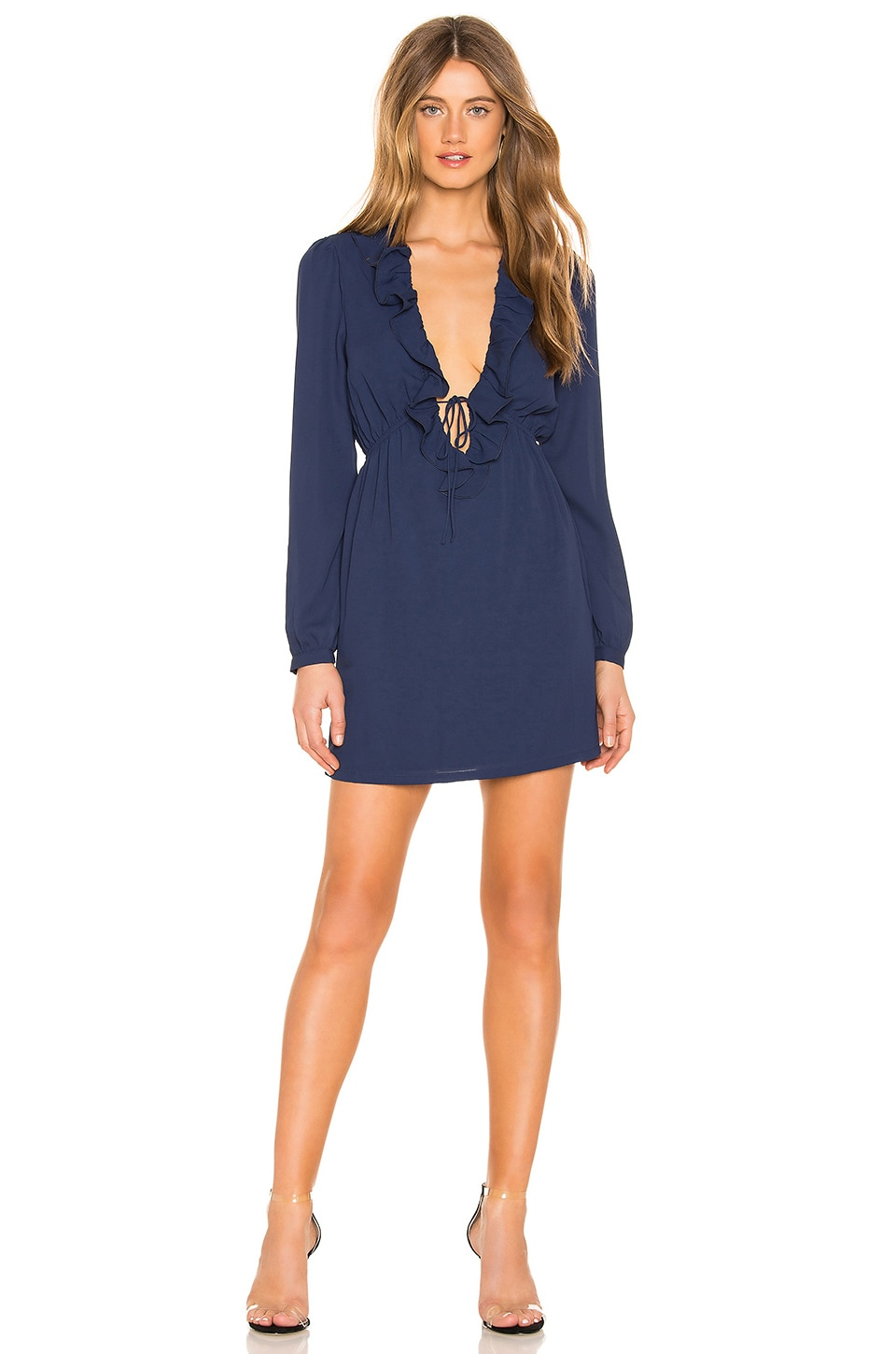 About Us Alia Mini Dress in Navy