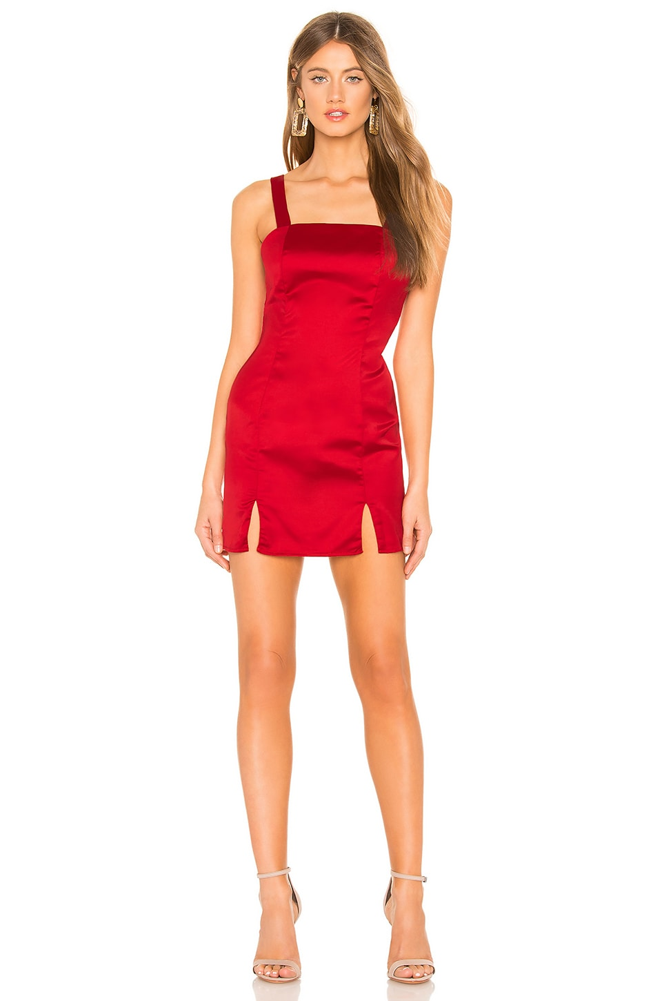 About Us Keira Mini Dress in Red