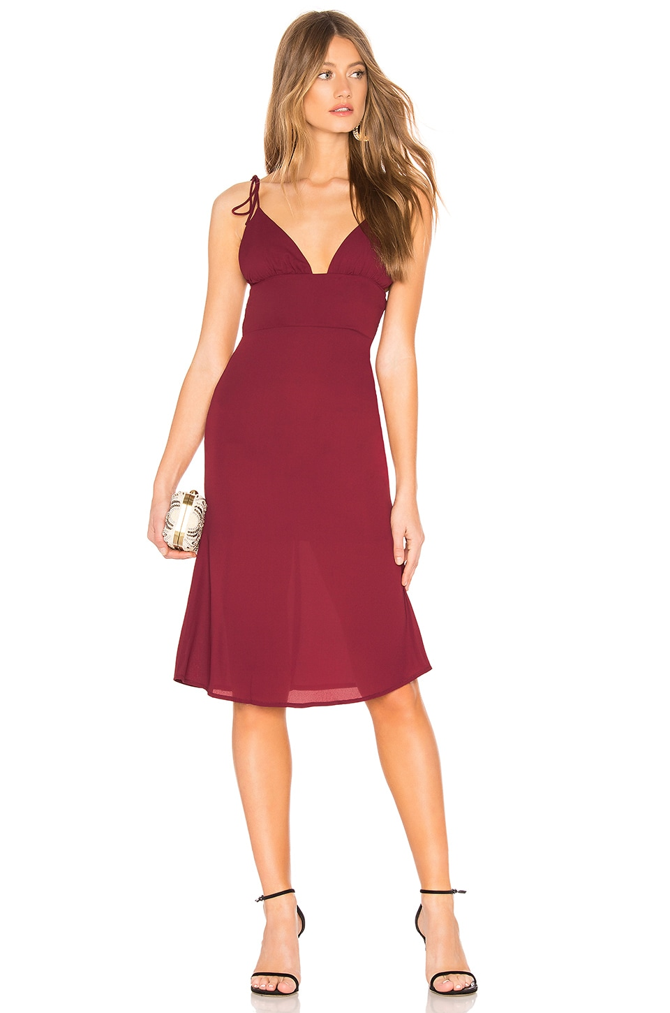 About Us Chloe Dress in Wine Red