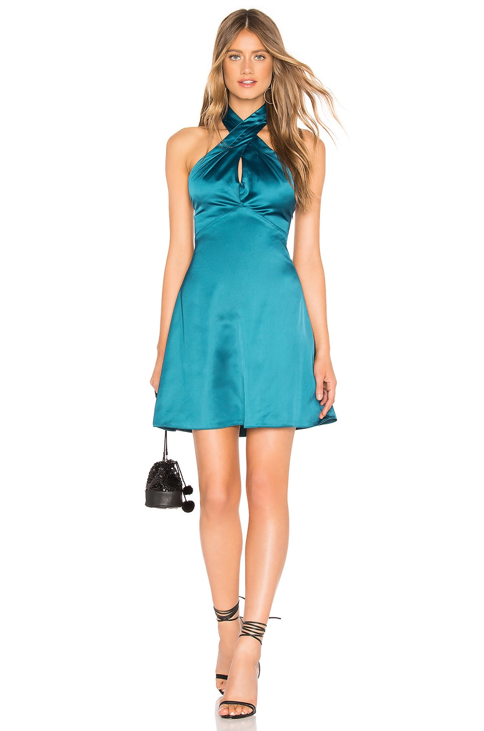 About Us Amerie Halter Dress in Teal