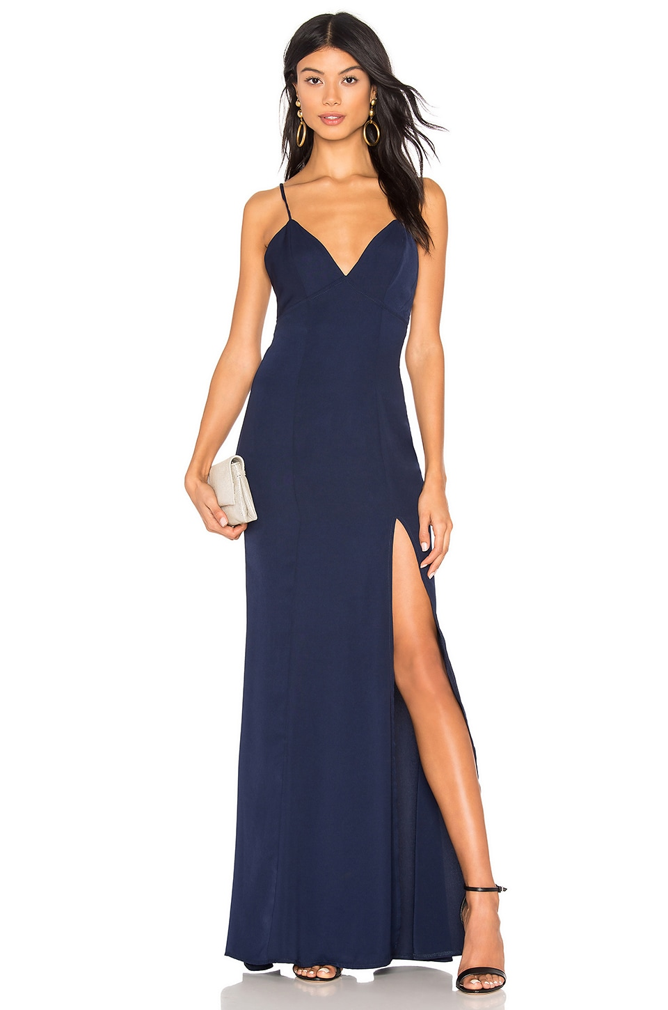 About Us Lisseth Maxi Dress in Navy