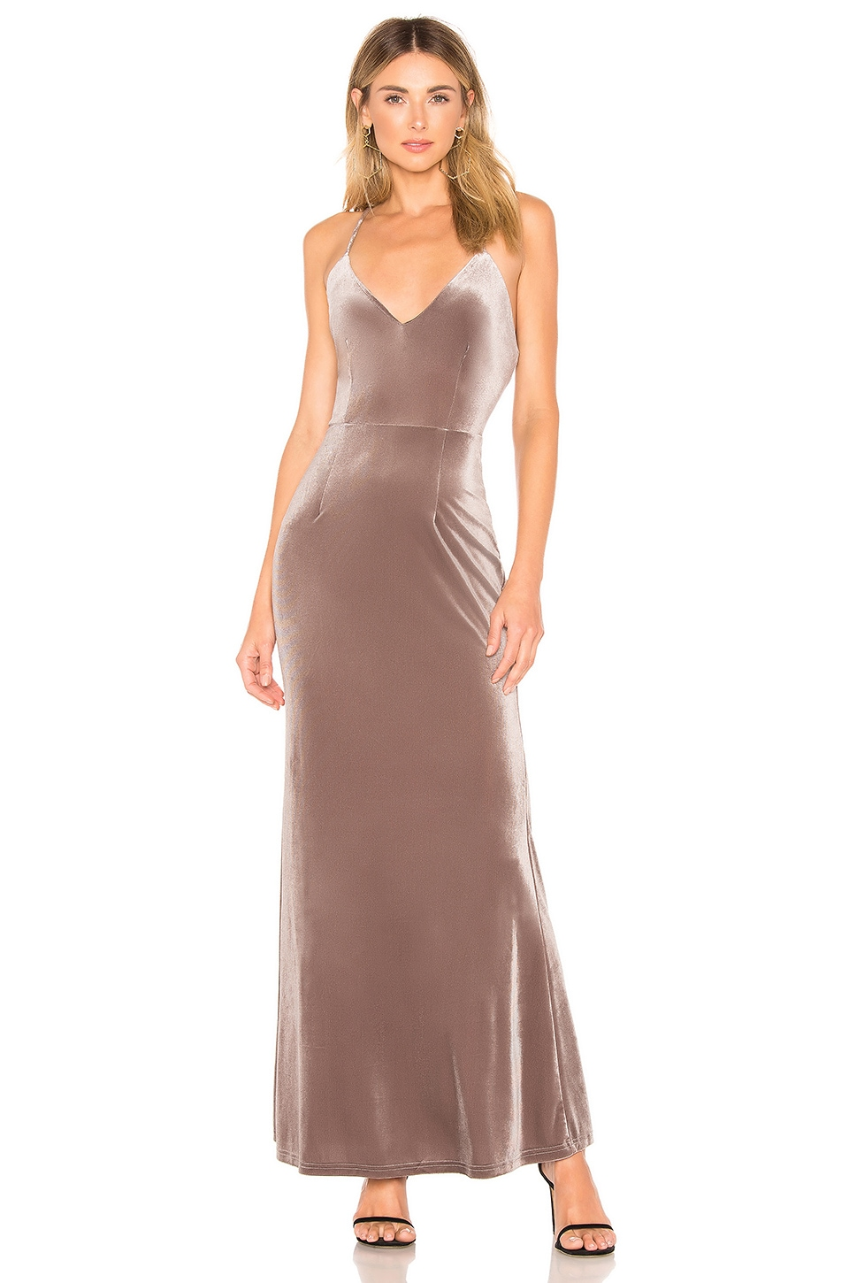 About Us Jessa Maxi Dress in Grey