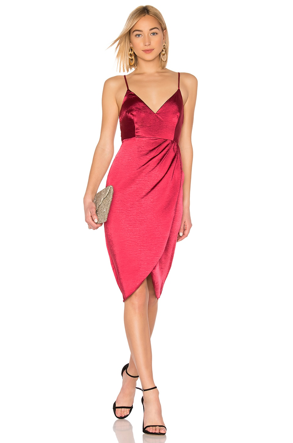 About Us Alena Midi Dress in Red