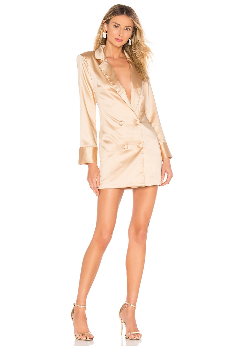 About Us Alix Blazer Dress in Champagne