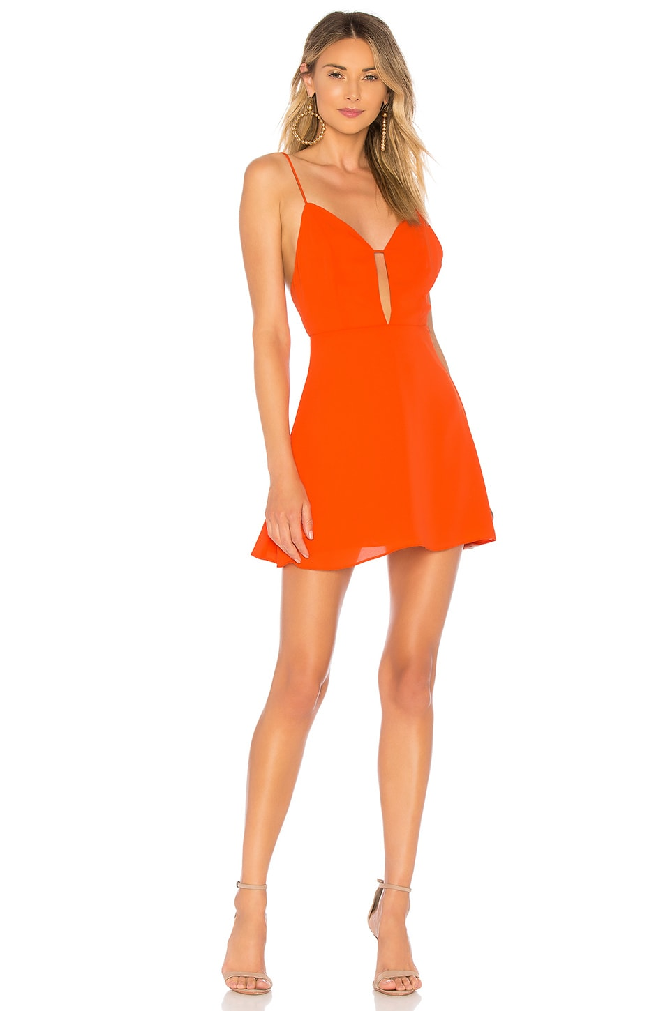 About Us Helen Cut Out Mini Dress in Orange