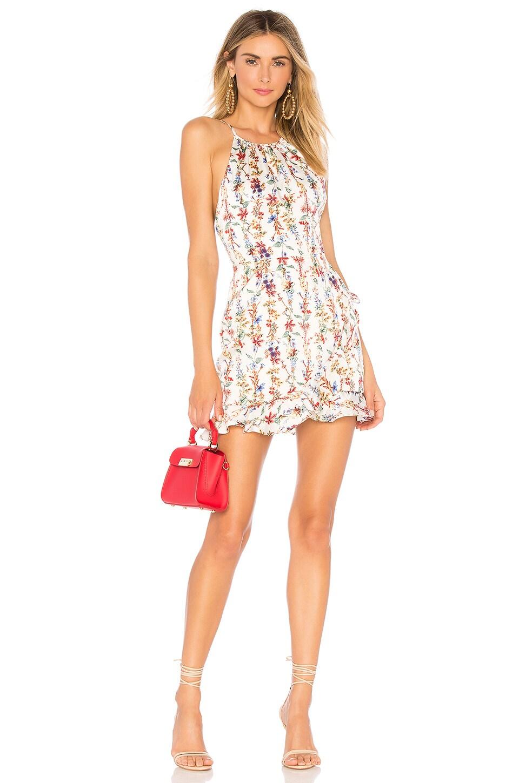 superdown Ciara Floral Ruffle Dress in White Floral