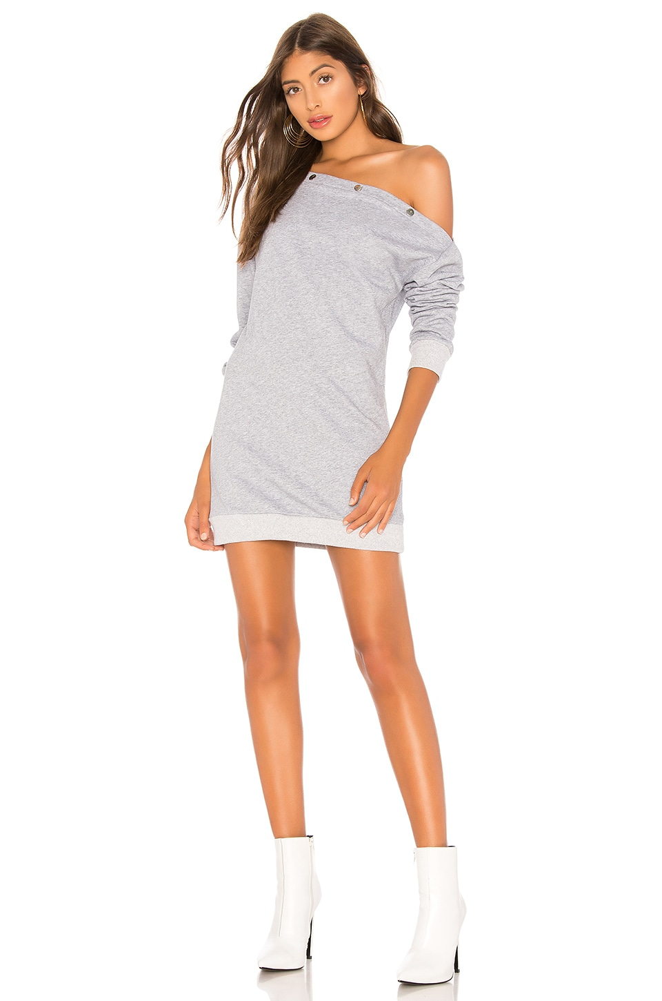 About Us Aubree Sweatshirt Dress in Heather Grey