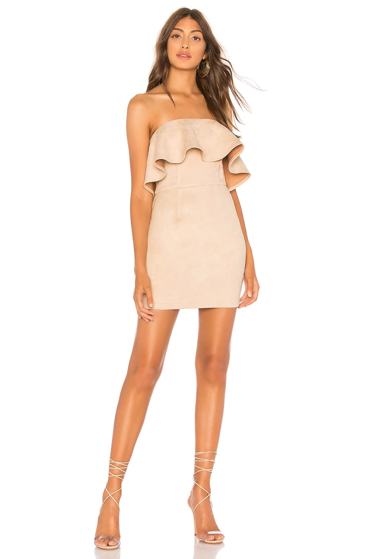 superdown Rebecca Strapless Dress in Nude
