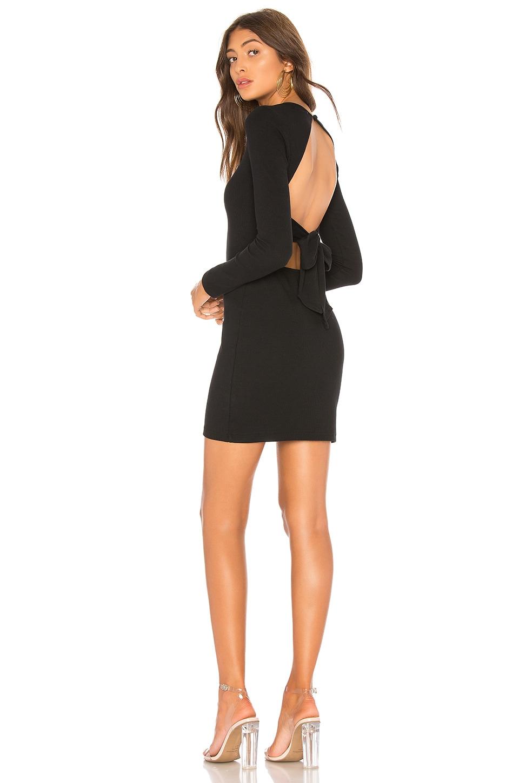 About Us Kerri Tie Back Dress in Black