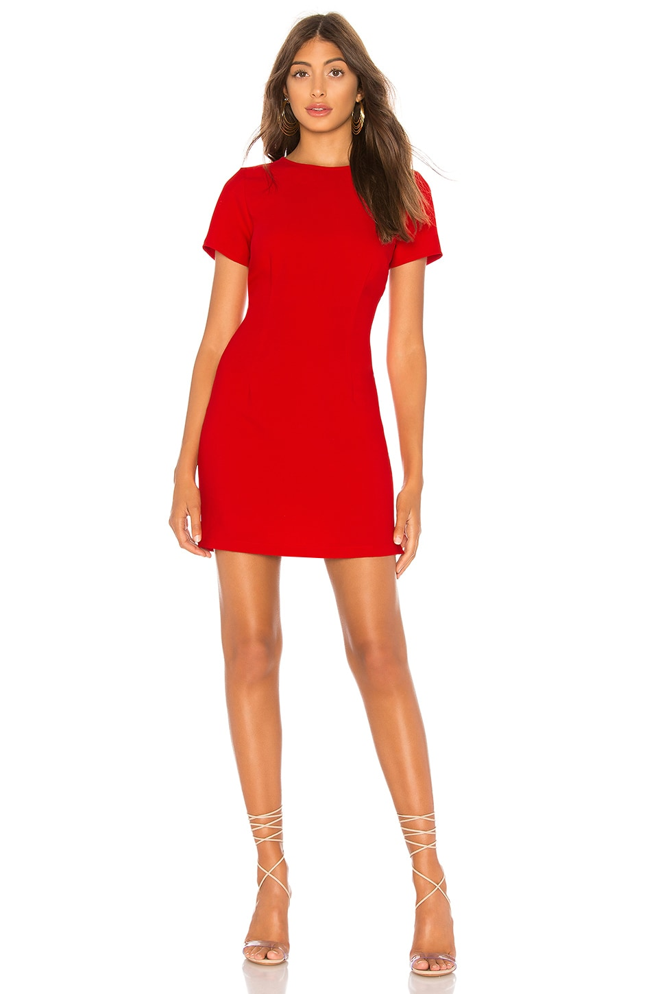 superdown Crystal Mini Dress in Red
