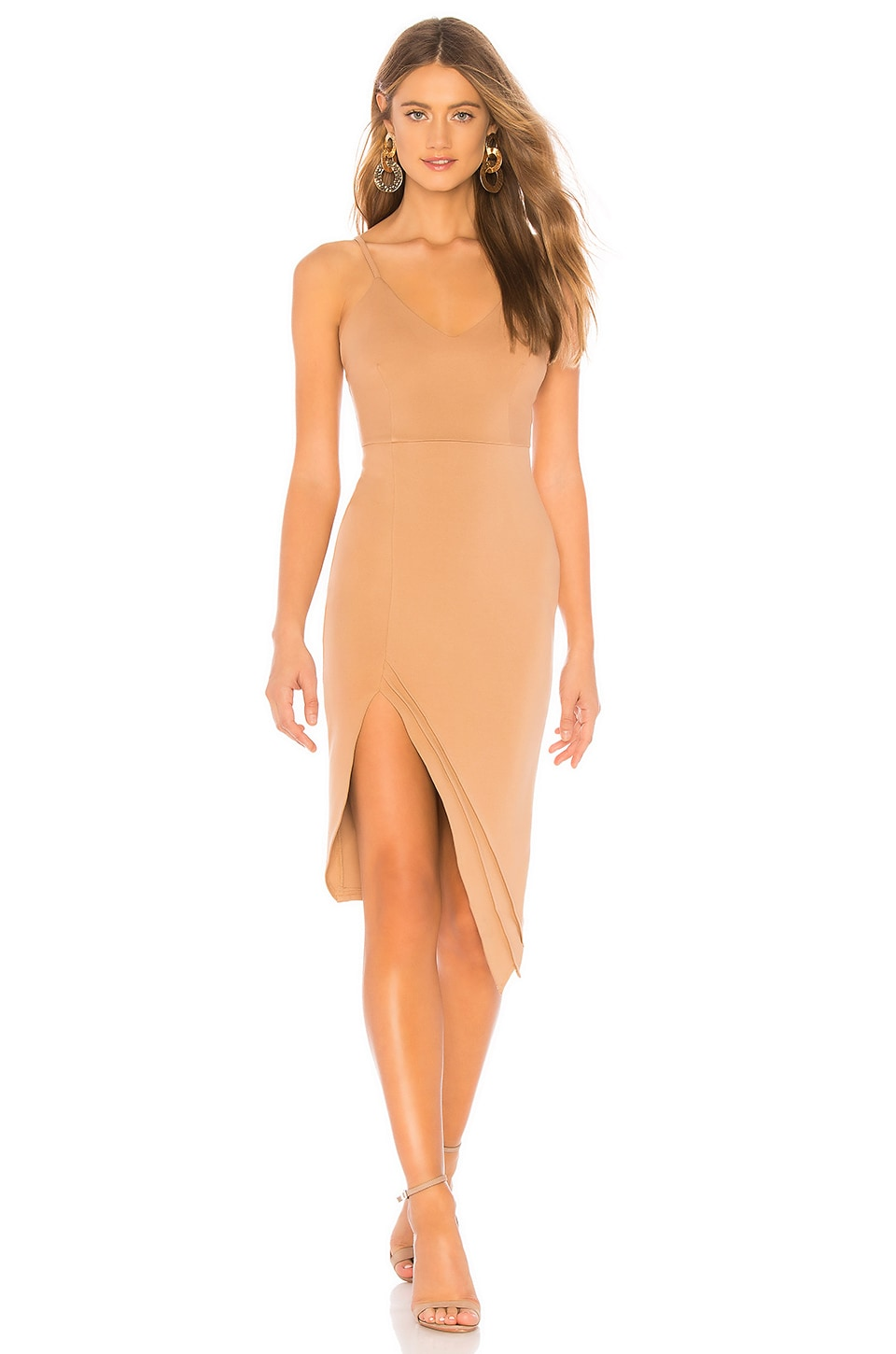 superdown Kilee Midi Dress in Nude