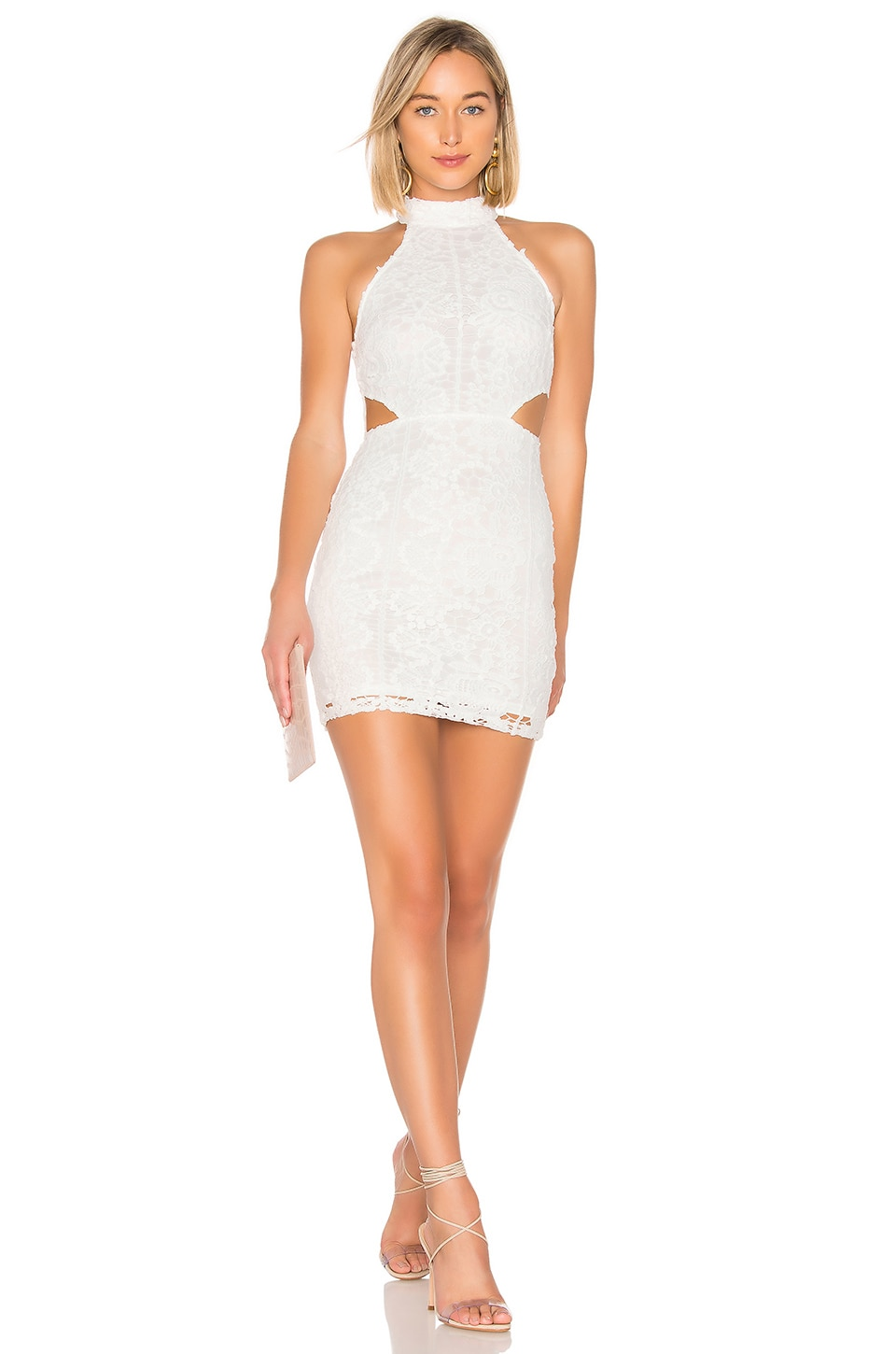 About Us Claire Dress in White