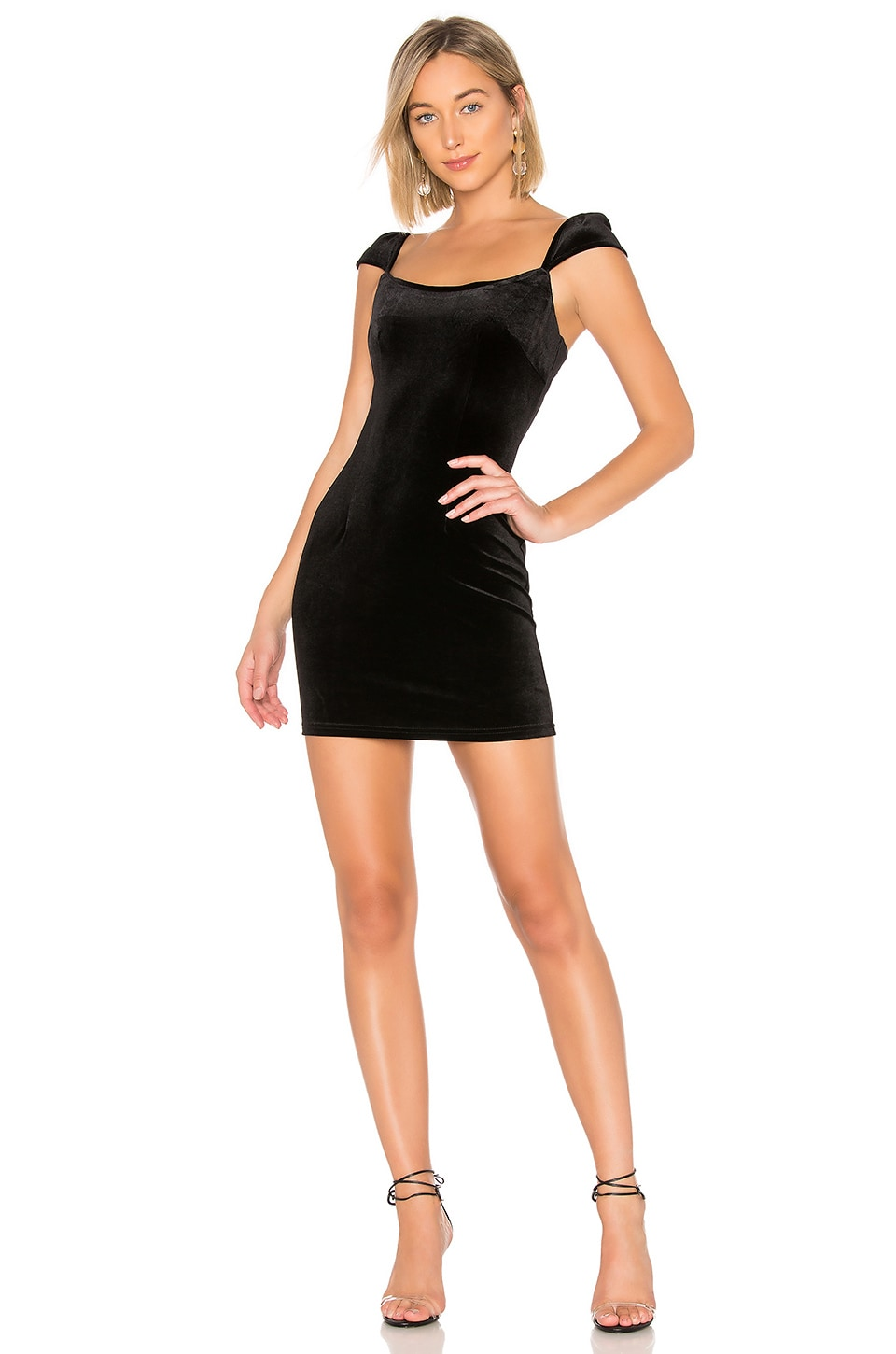 About Us Angelica Mini Dress in Black