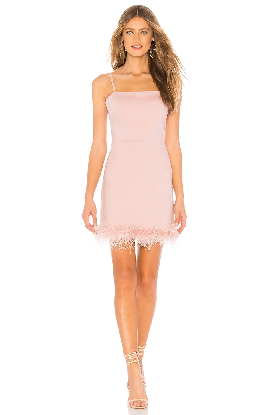 ABOUT US KATE FEATHER BOTTOM DRESS