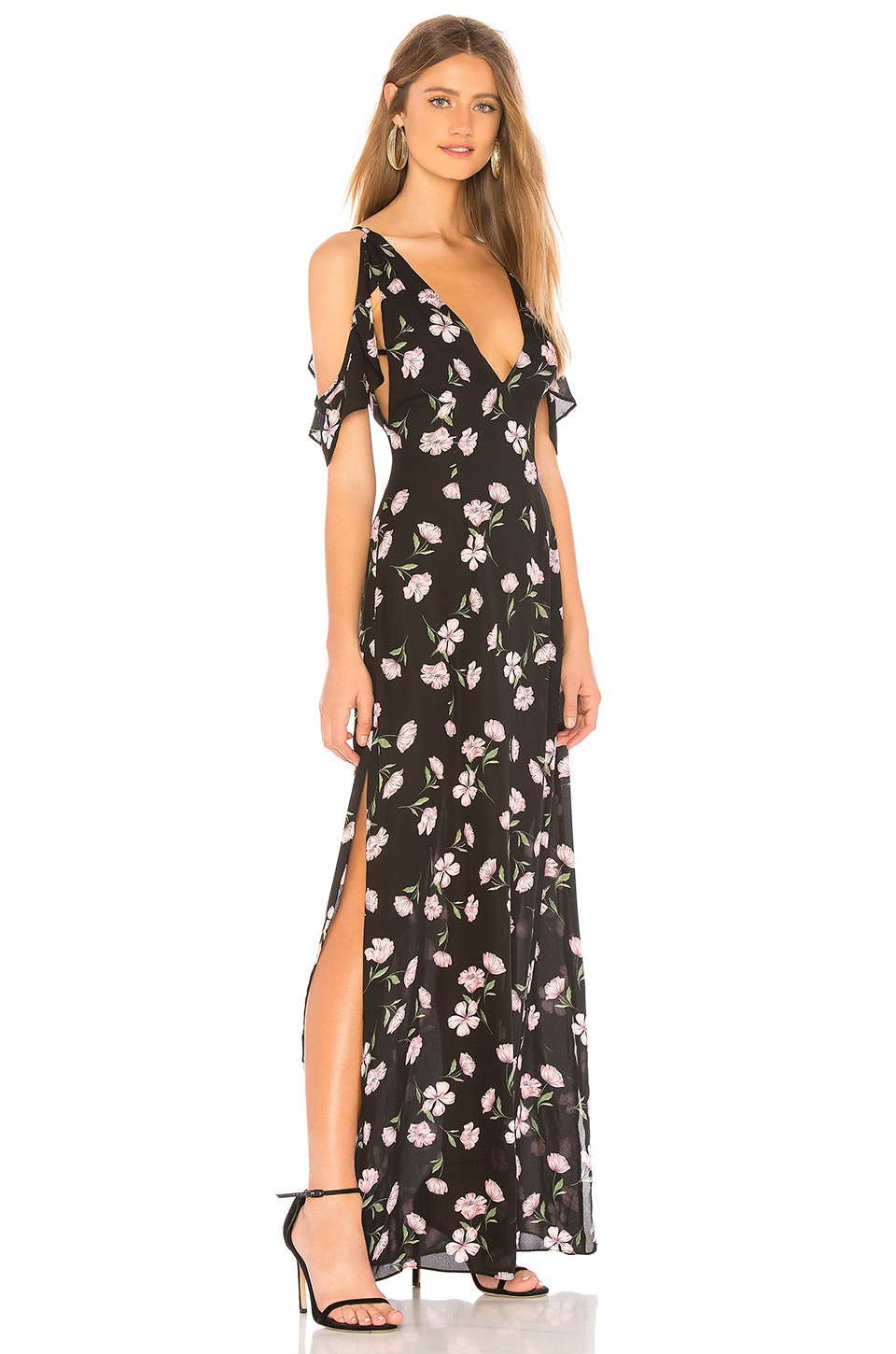 About Us Mary Maxi Dress in Black Multi
