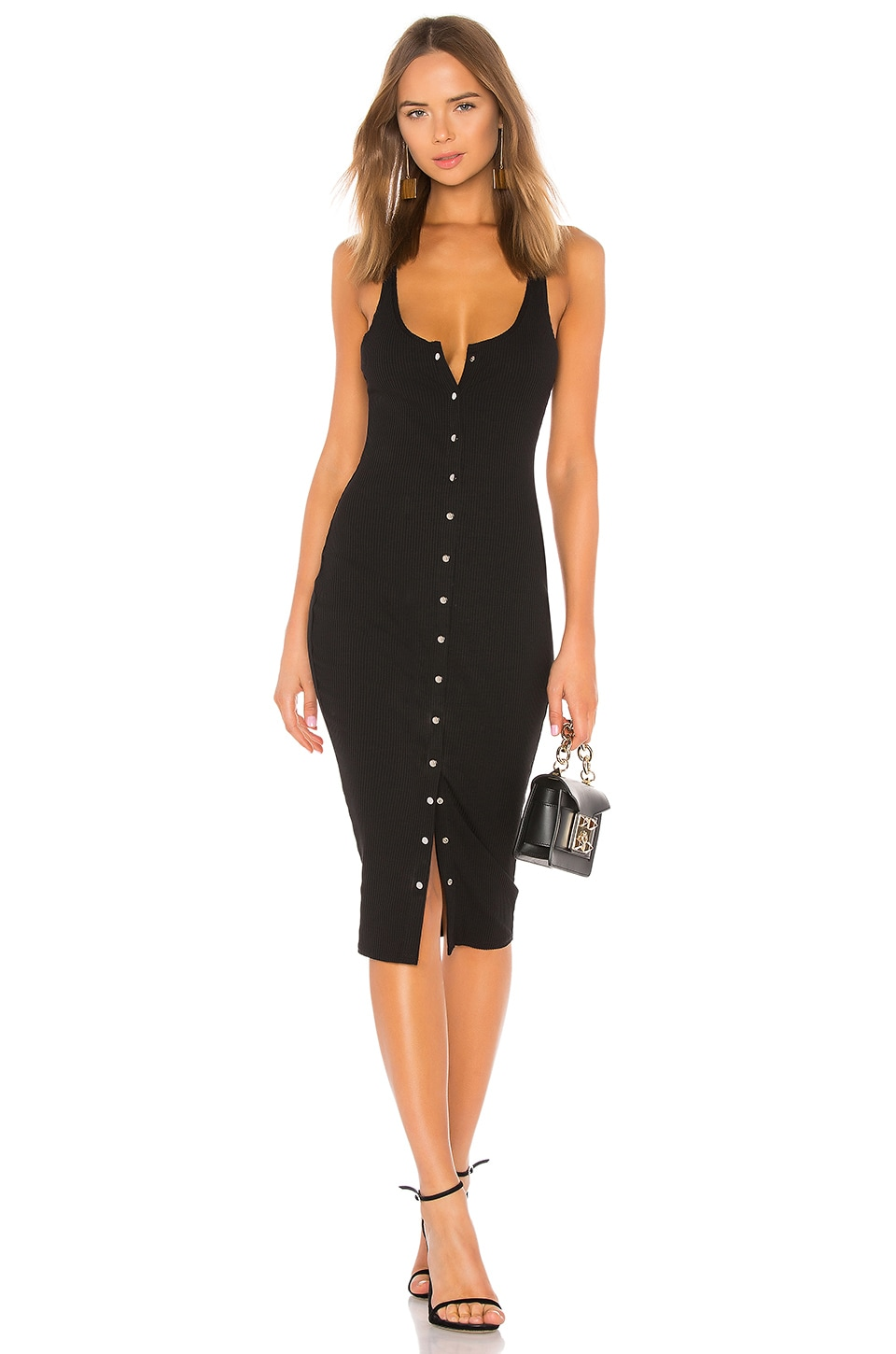 About Us Shelby Midi Dress in Black
