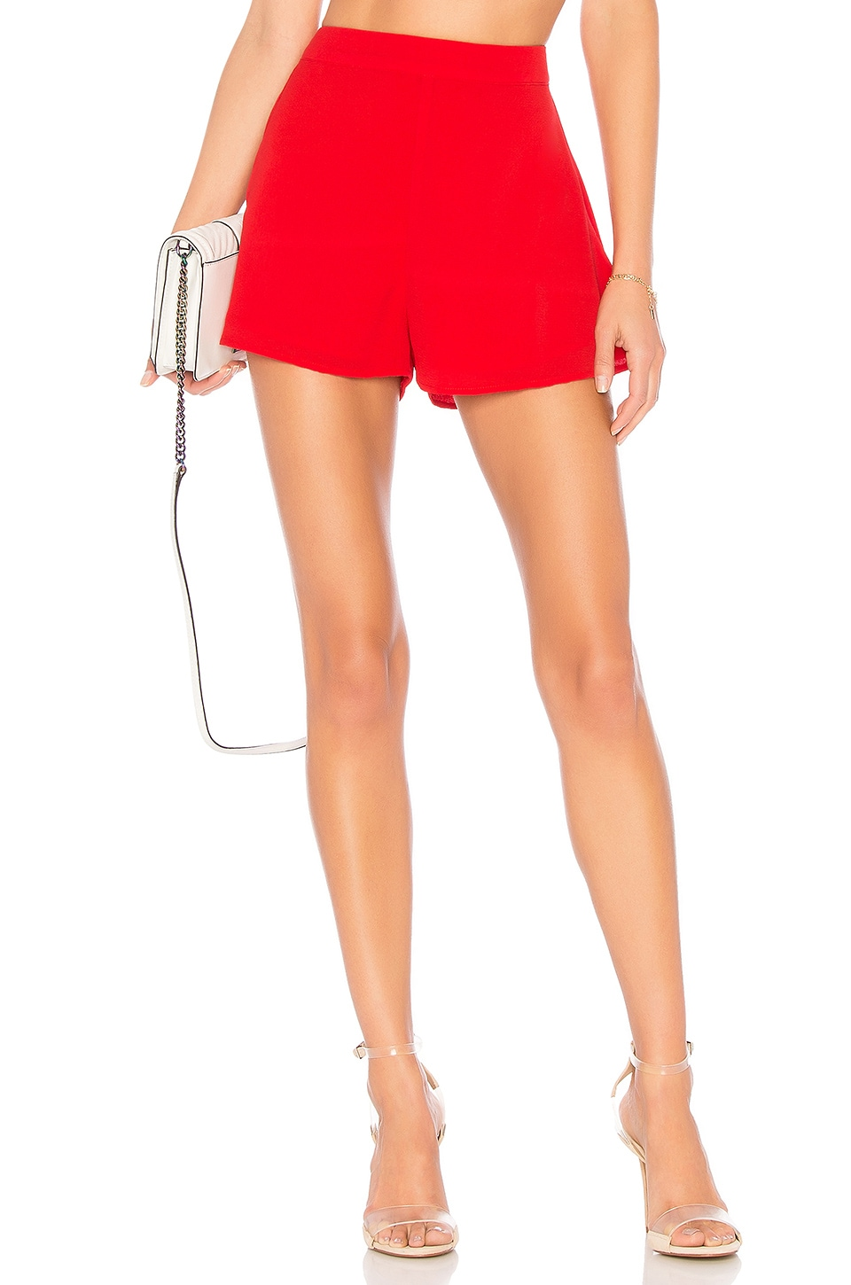 About Us Cory Flutter Shorts in Red
