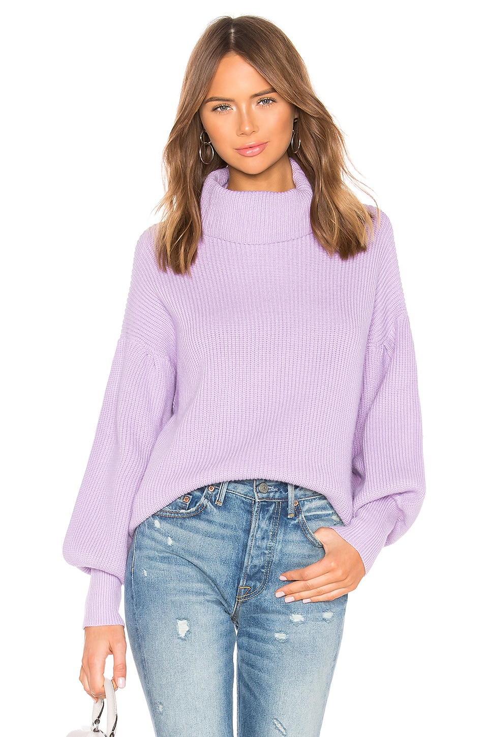 About Us Frankie Knit Sweater in Lavender
