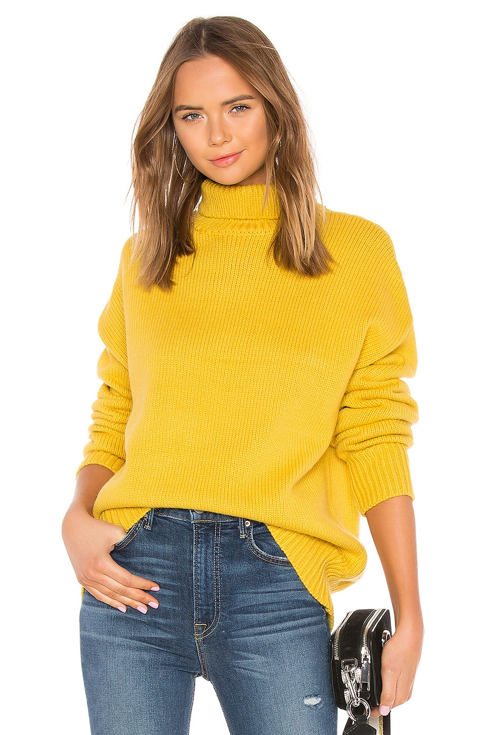 ABOUT US Paris Knit Sweater, Yellow