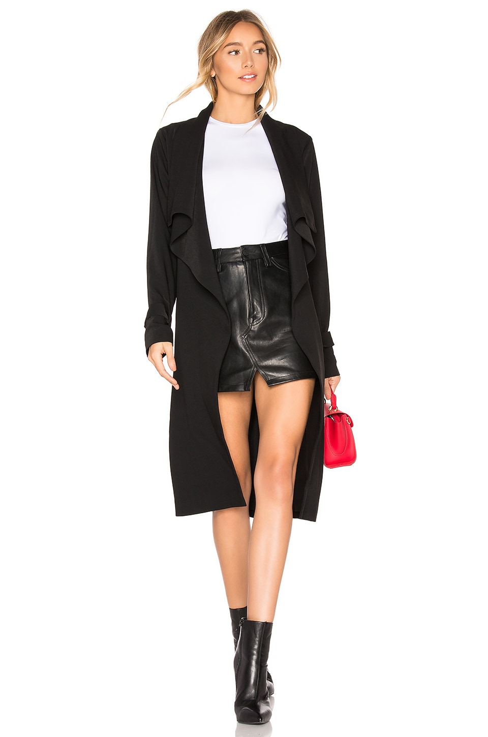About Us Gwen Trench Coat in Black