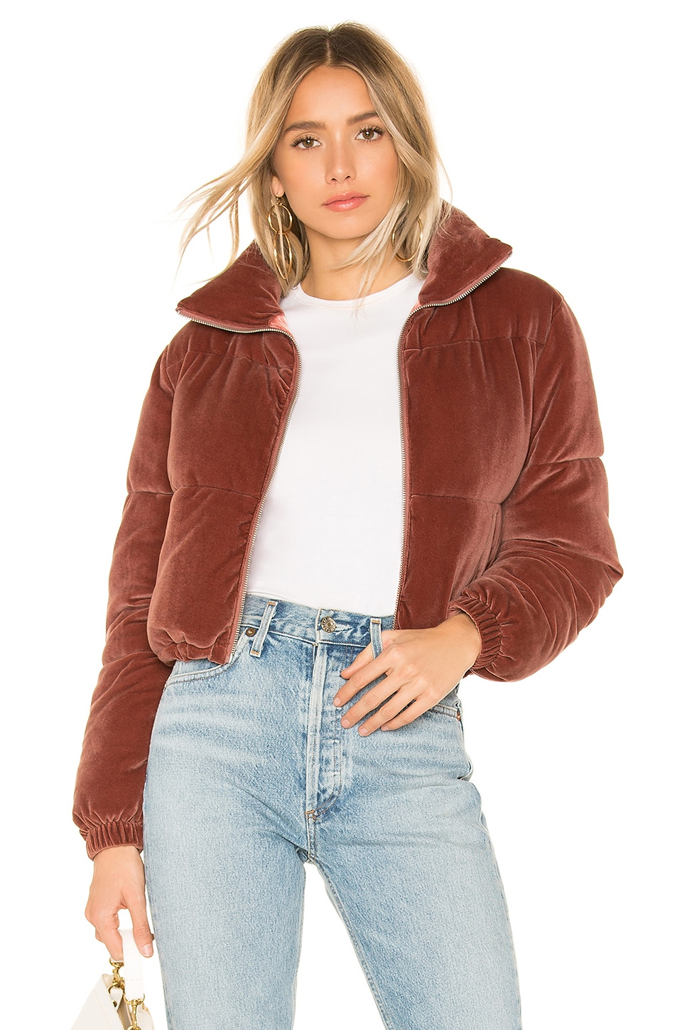 ABOUT US Kora Puffer Jacket in Mauve