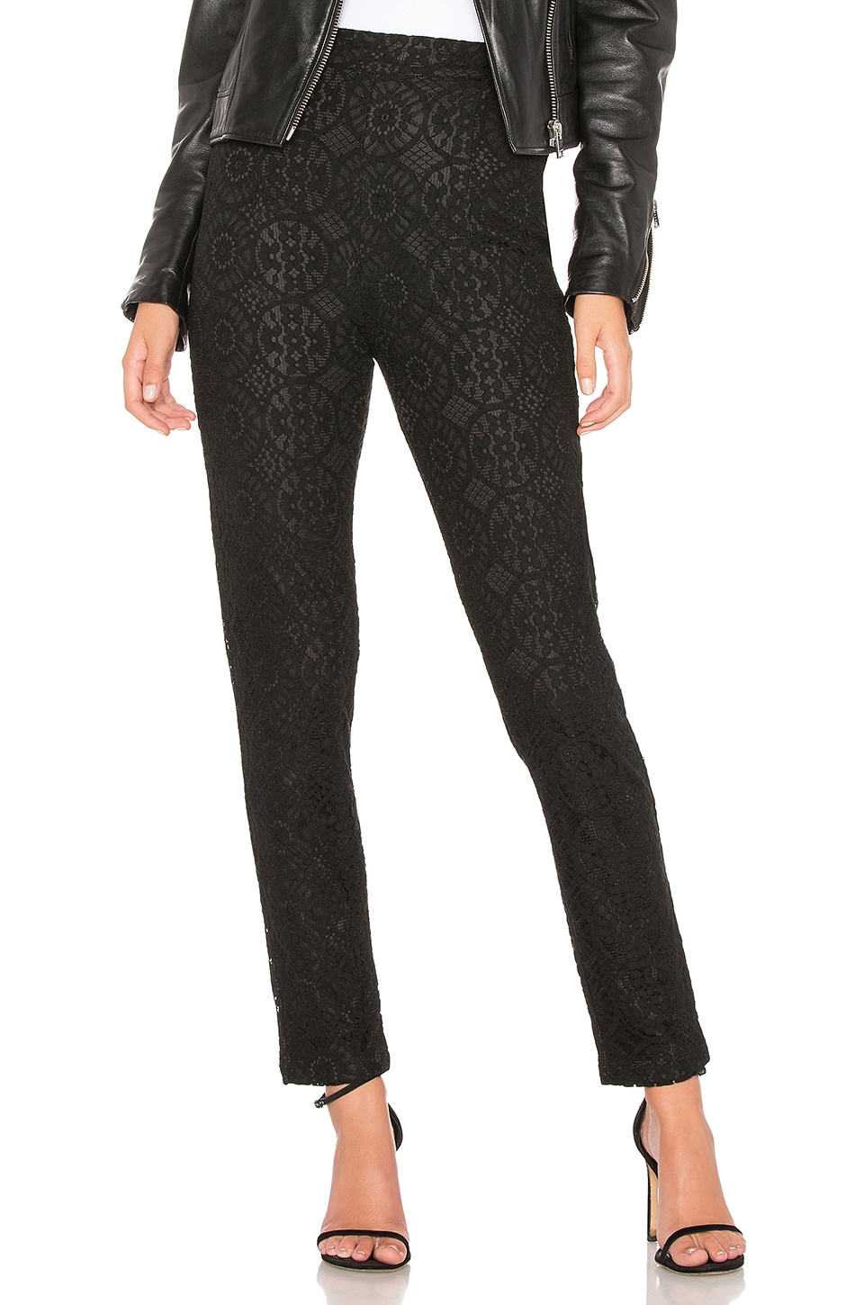 About Us Tess Lace Pants in Black