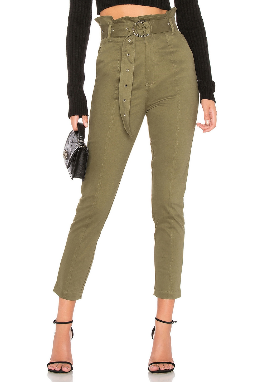 About Us Tierra Buckle Pant in Olive Green