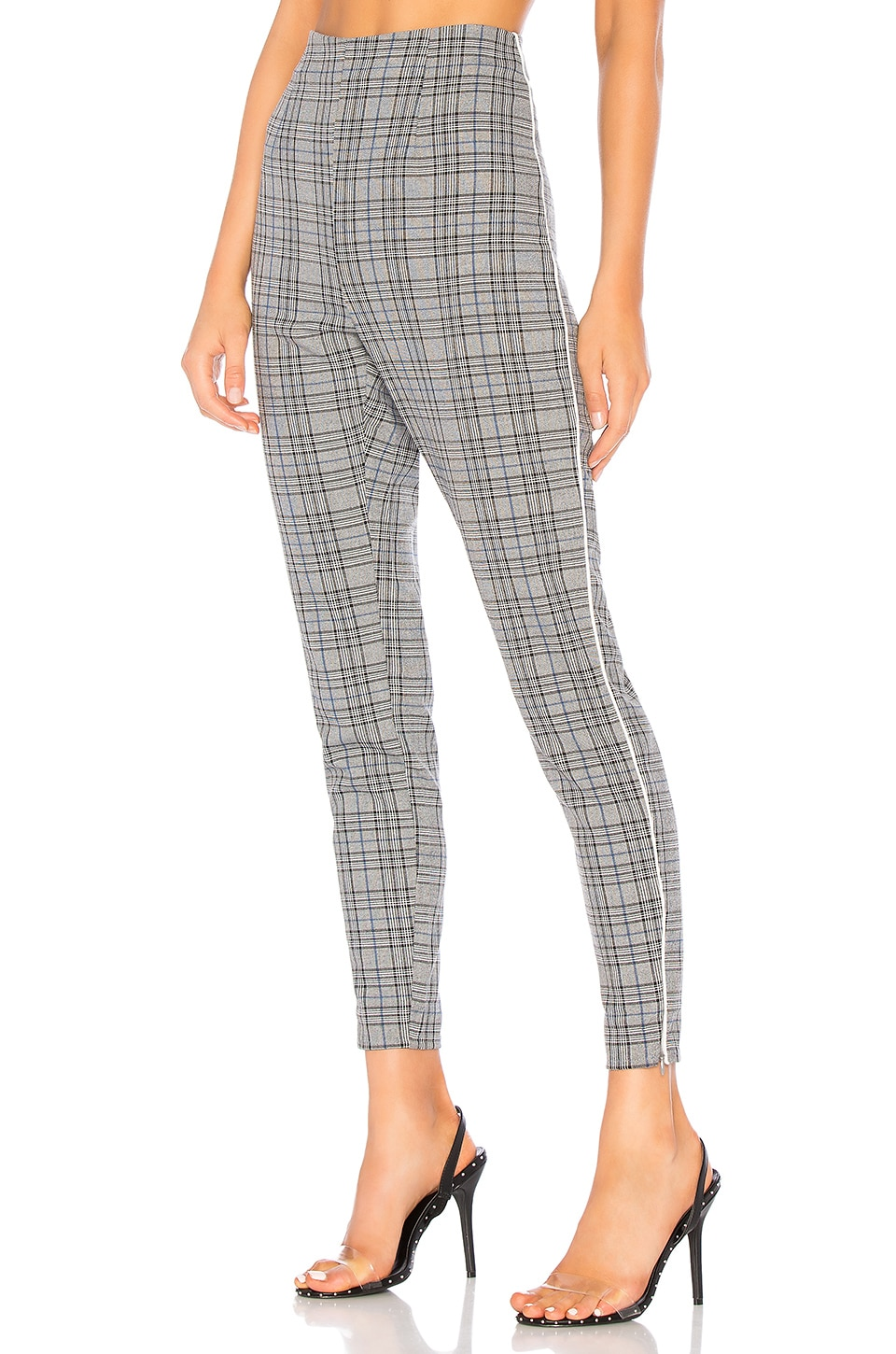 About Us Celine Plaid Pants in Grey Plaid