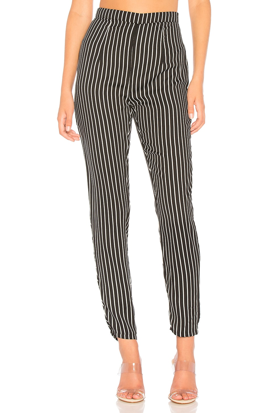 About Us Kourtney Striped Pant in Black & White