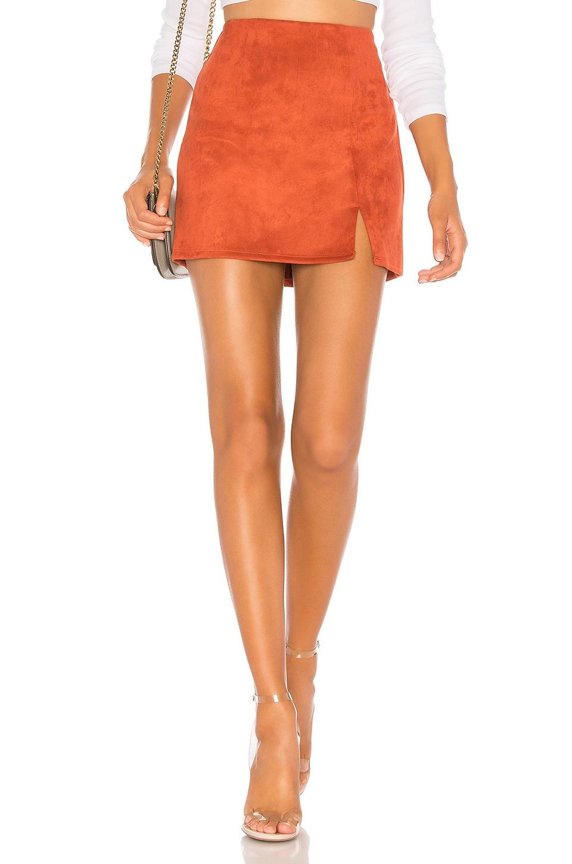 superdown Dillon Mini Skirt in Rust