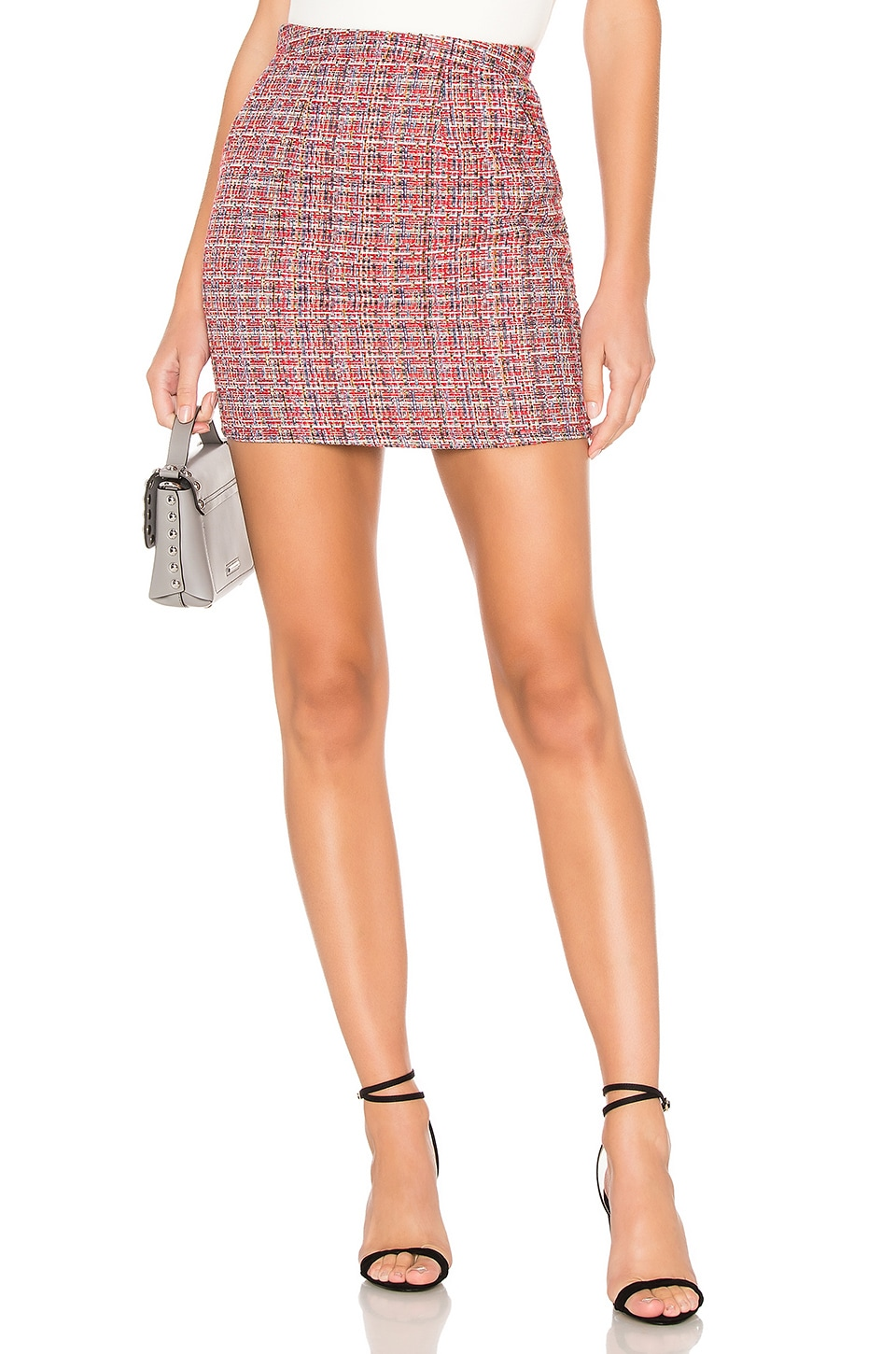 About Us Betsey Mini Skirt in Red Multi