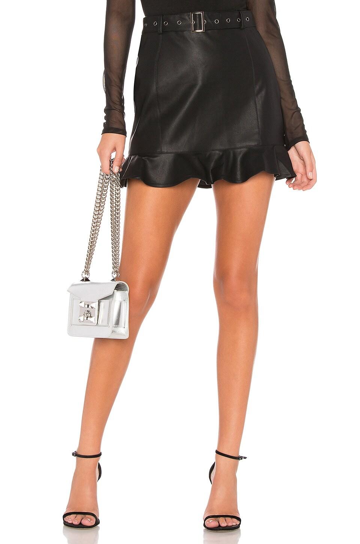 About Us Kyla Ruffle Skirt in Black