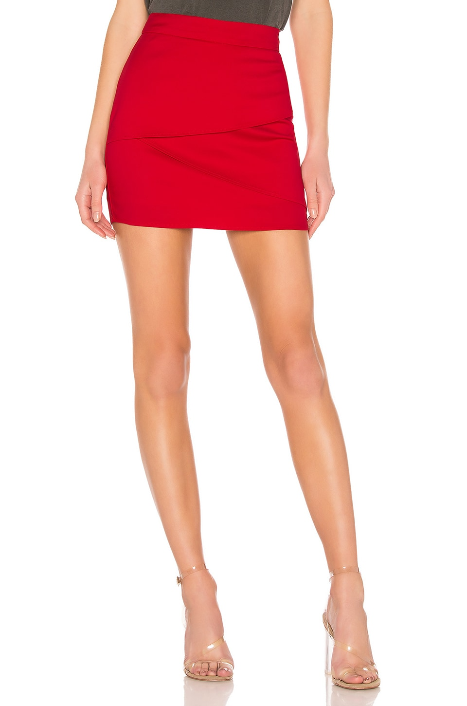 About Us Solice Wrap Mini Skirt in Red