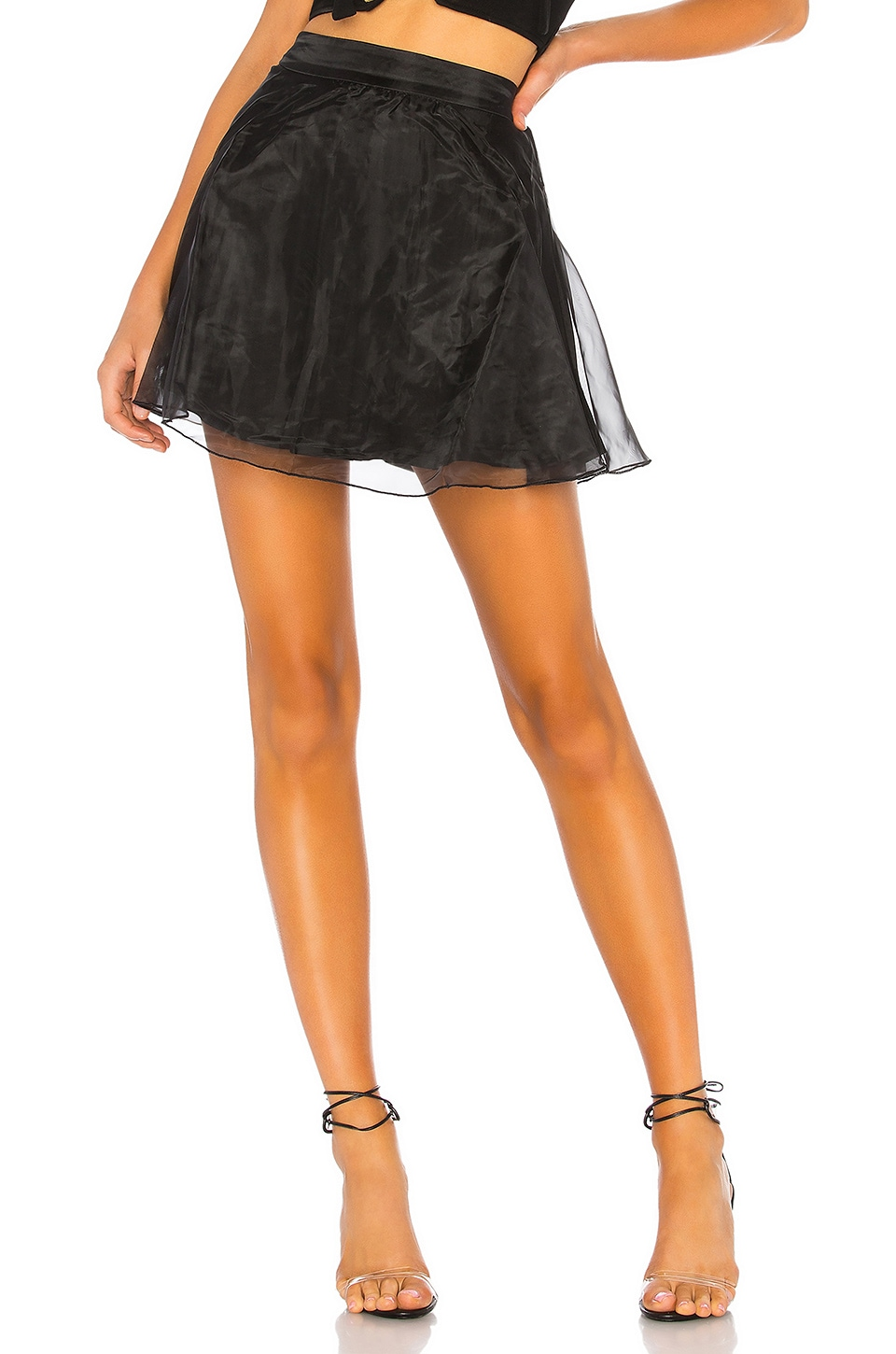 About Us Libby Organza Skirt in Black