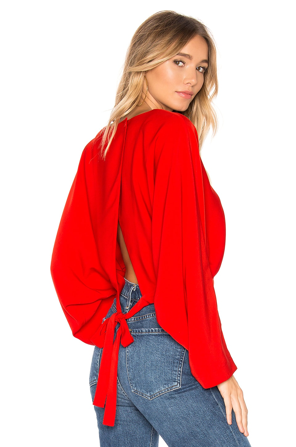 superdown Liliana Open Back Top in Red