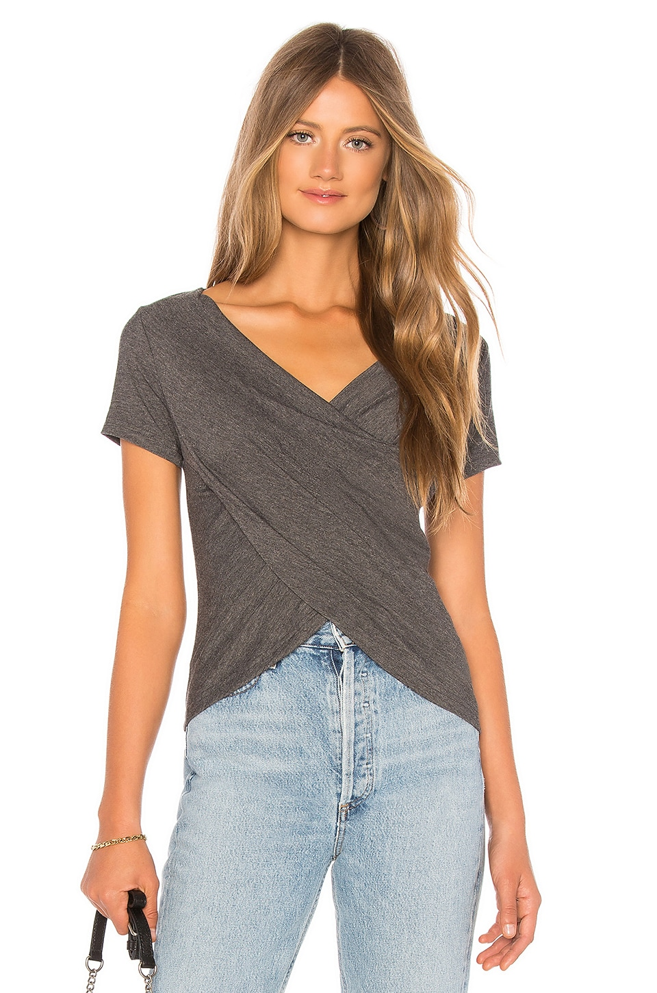 superdown Carly T-Shirt in Charcoal