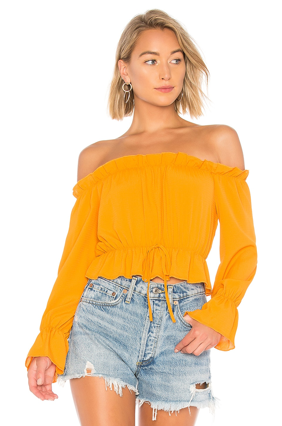 About Us Keysha Off Shoulder Top in Marigold