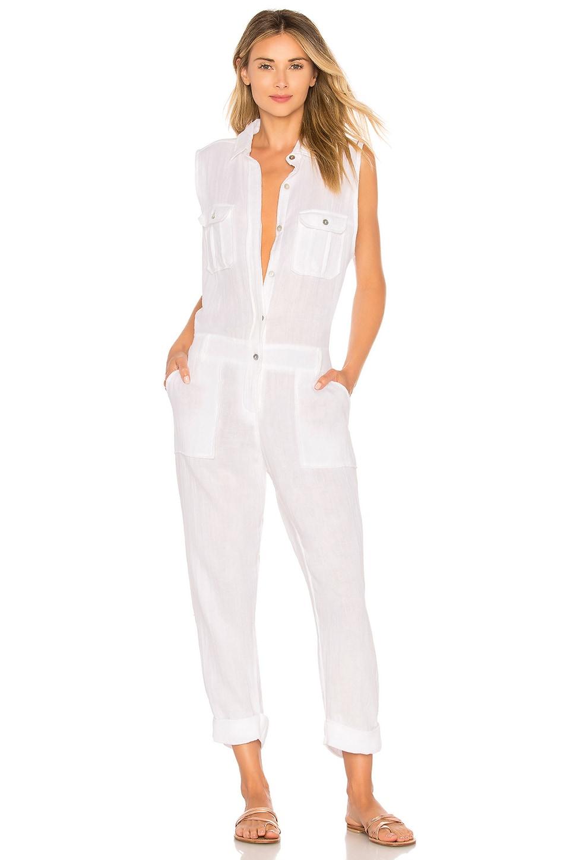 ACACIA SWIMWEAR Hollywood Jumpsuit, White