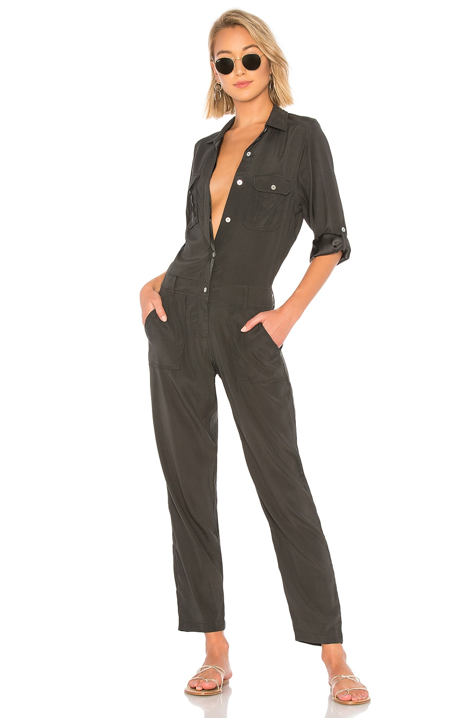Acacia Swimwear Mississippi Jumpsuit in Washed Black