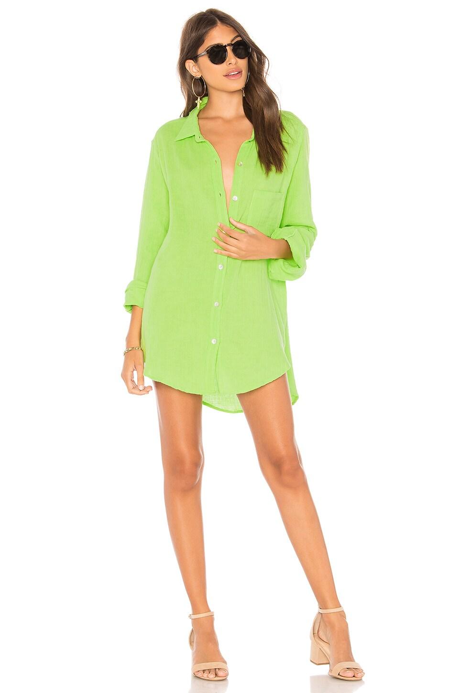 Acacia Swimwear Milos Shirt Dress in Neon Cactus