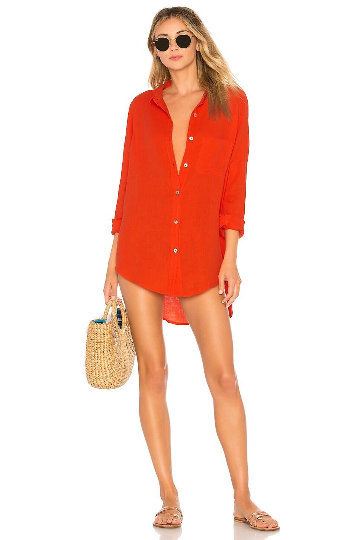 ACACIA SWIMWEAR Milos Shirt Dress, Red