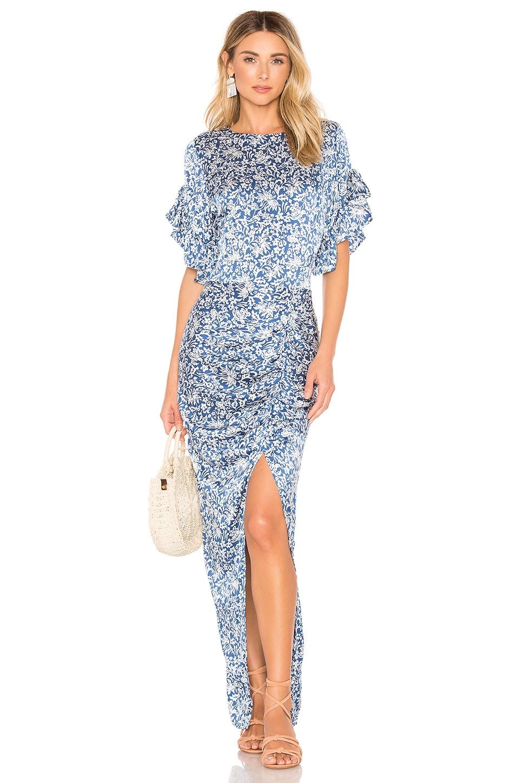 ACACIA SWIMWEAR Luau Silk Dress in Blue
