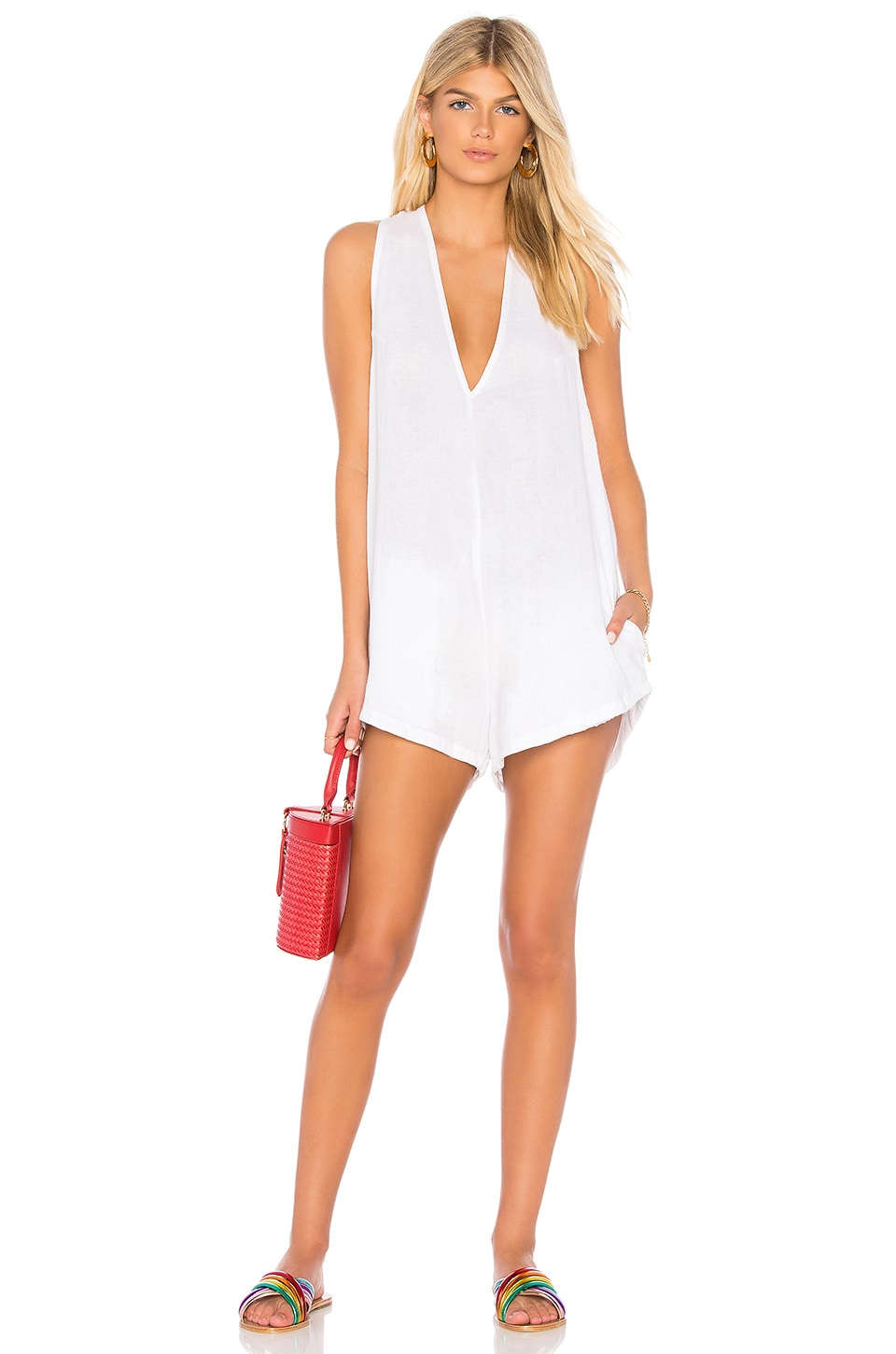 Acacia Swimwear Haiku Romper in White