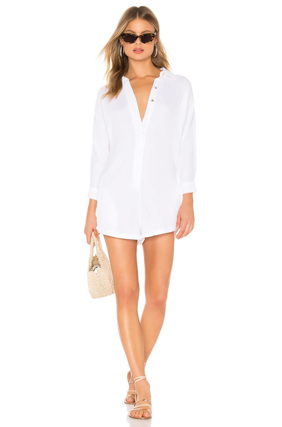 Acacia Swimwear Kapaa Romper in White