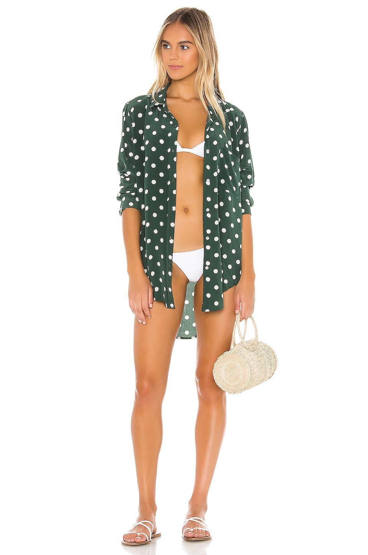Acacia Swimwear Milos Button Up in Dotty