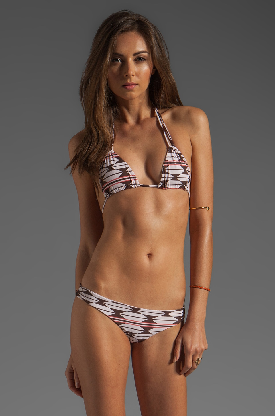 Acacia Swimwear Canons Triangle Top in Native