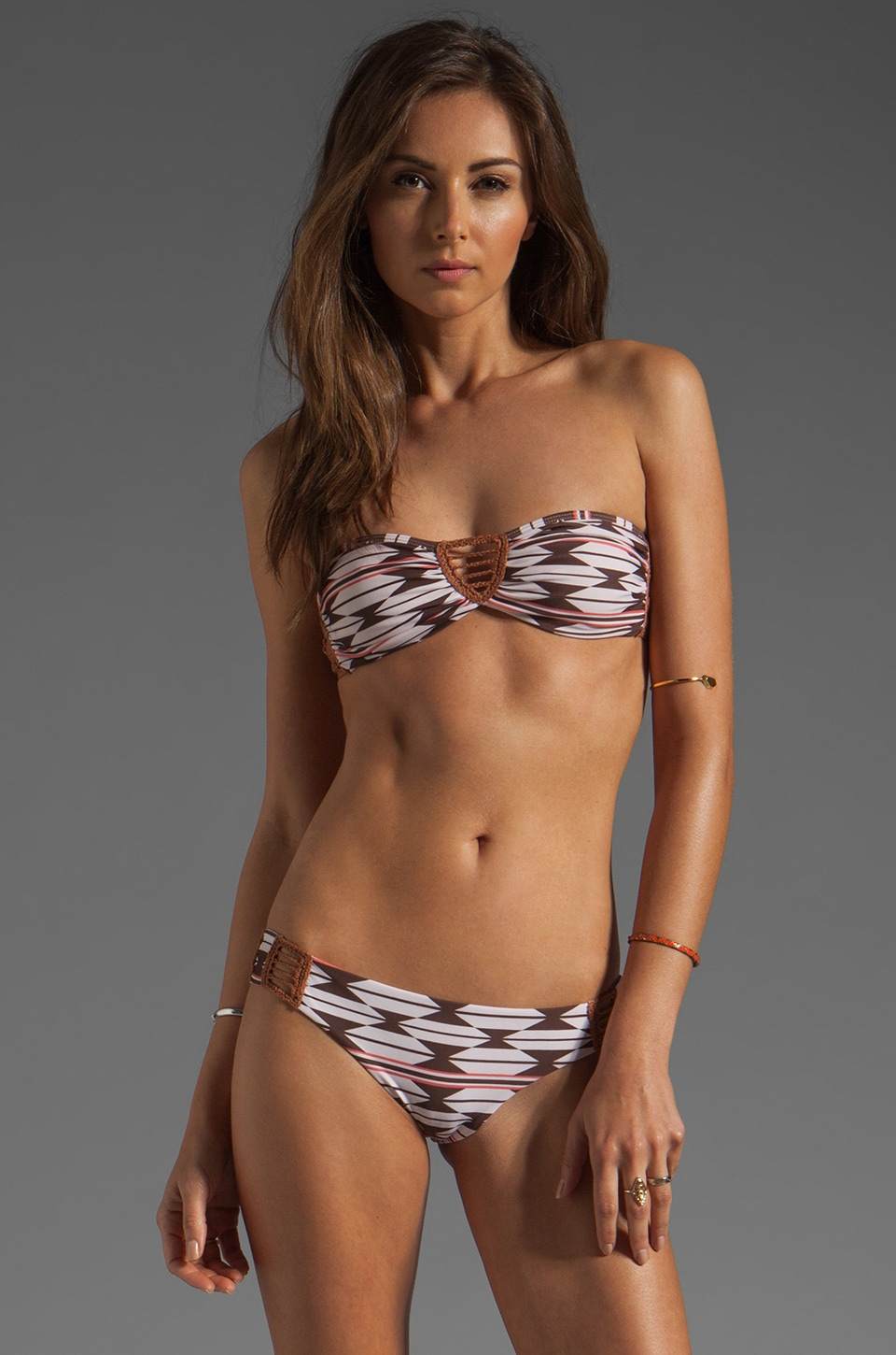 Acacia Swimwear Buenos Aires Crochet Bandeau in Native
