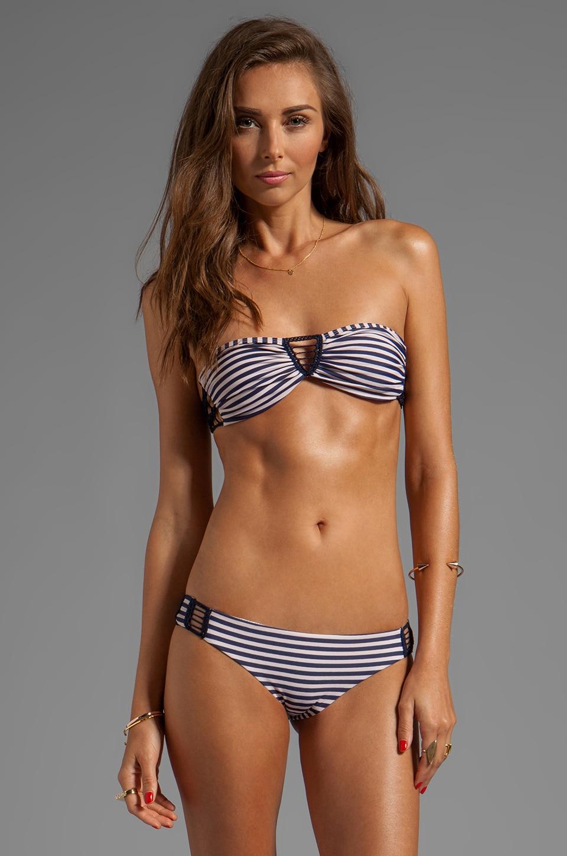 Acacia Swimwear Buenos Aires Bikini Top in Navy Creme